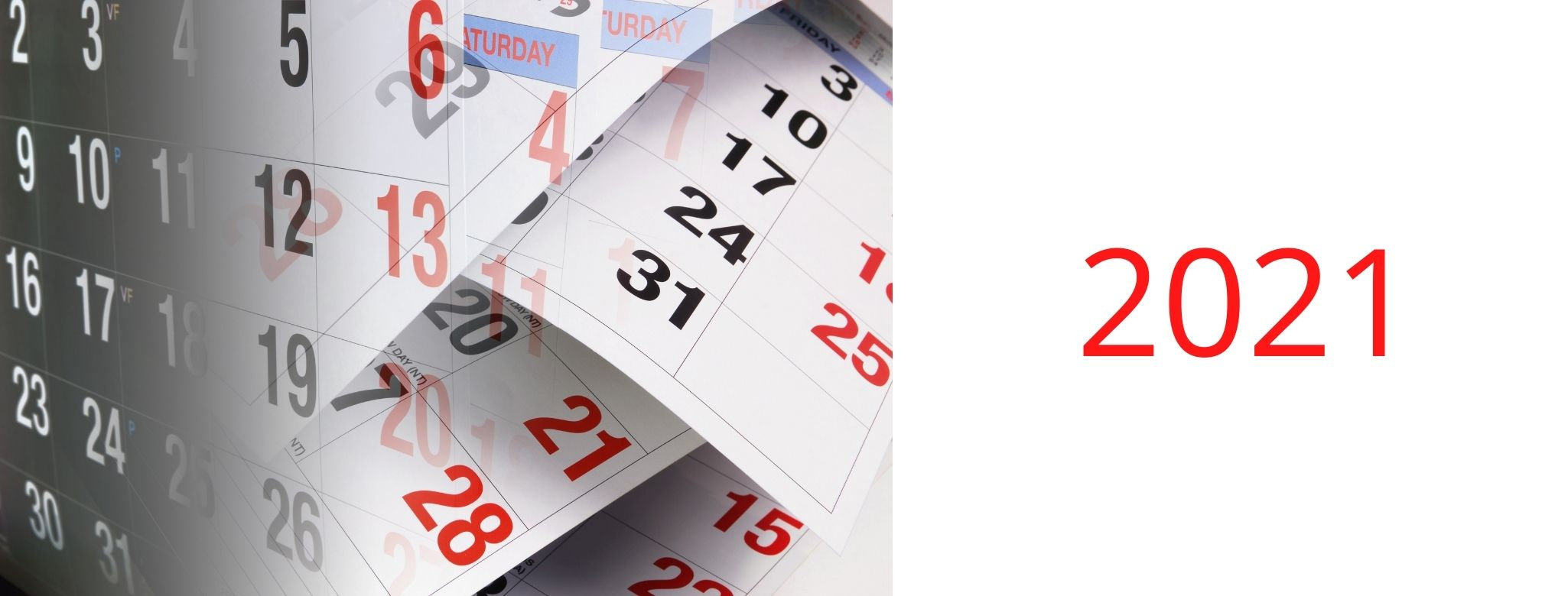 Calendrier des formations 2021